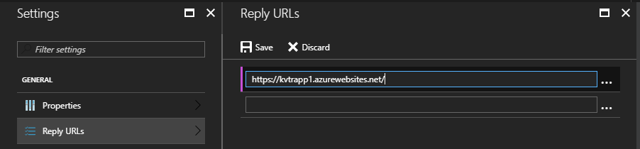 Set Reply URL