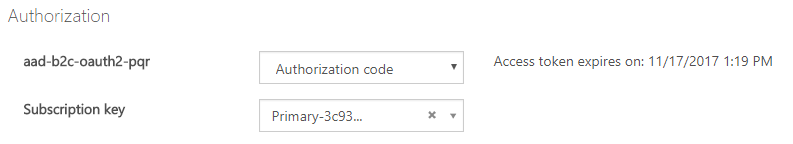Testing the API