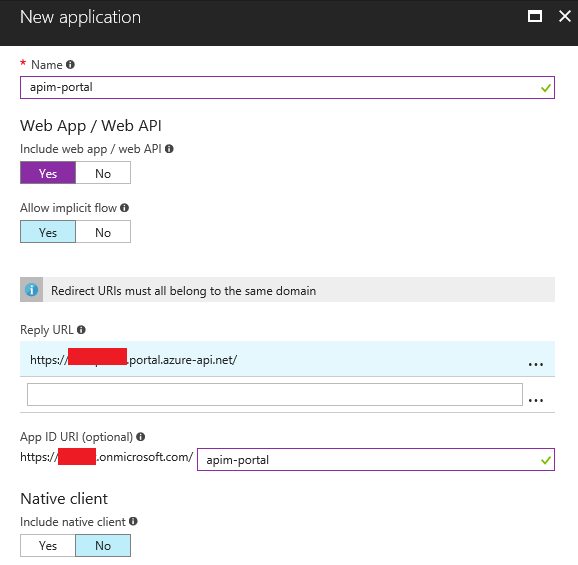 Creating portal application
