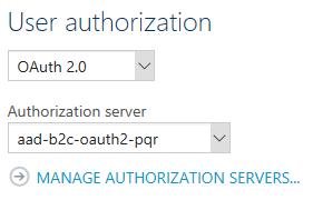 Configure API authorization