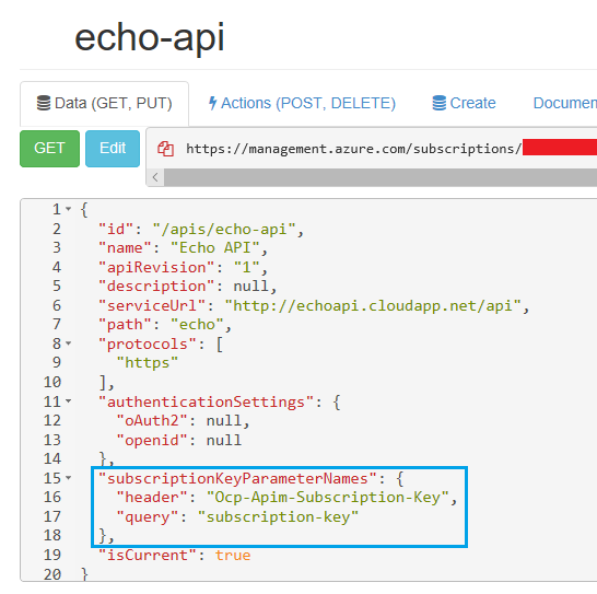 Azure API Management - Changing the Subscription Key header or query