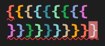 Rainbow dark-light-braces theme